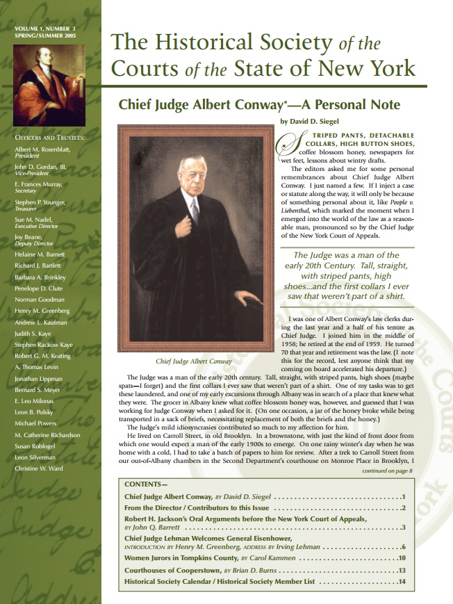 Cover of Judicial Notice Issue 3