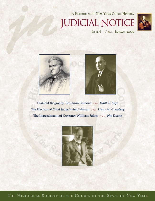 Cover of Judicial Notice Issue 6