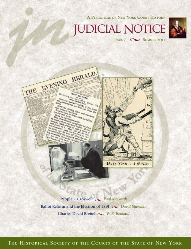 Cover of Judicial Notice Issue 7