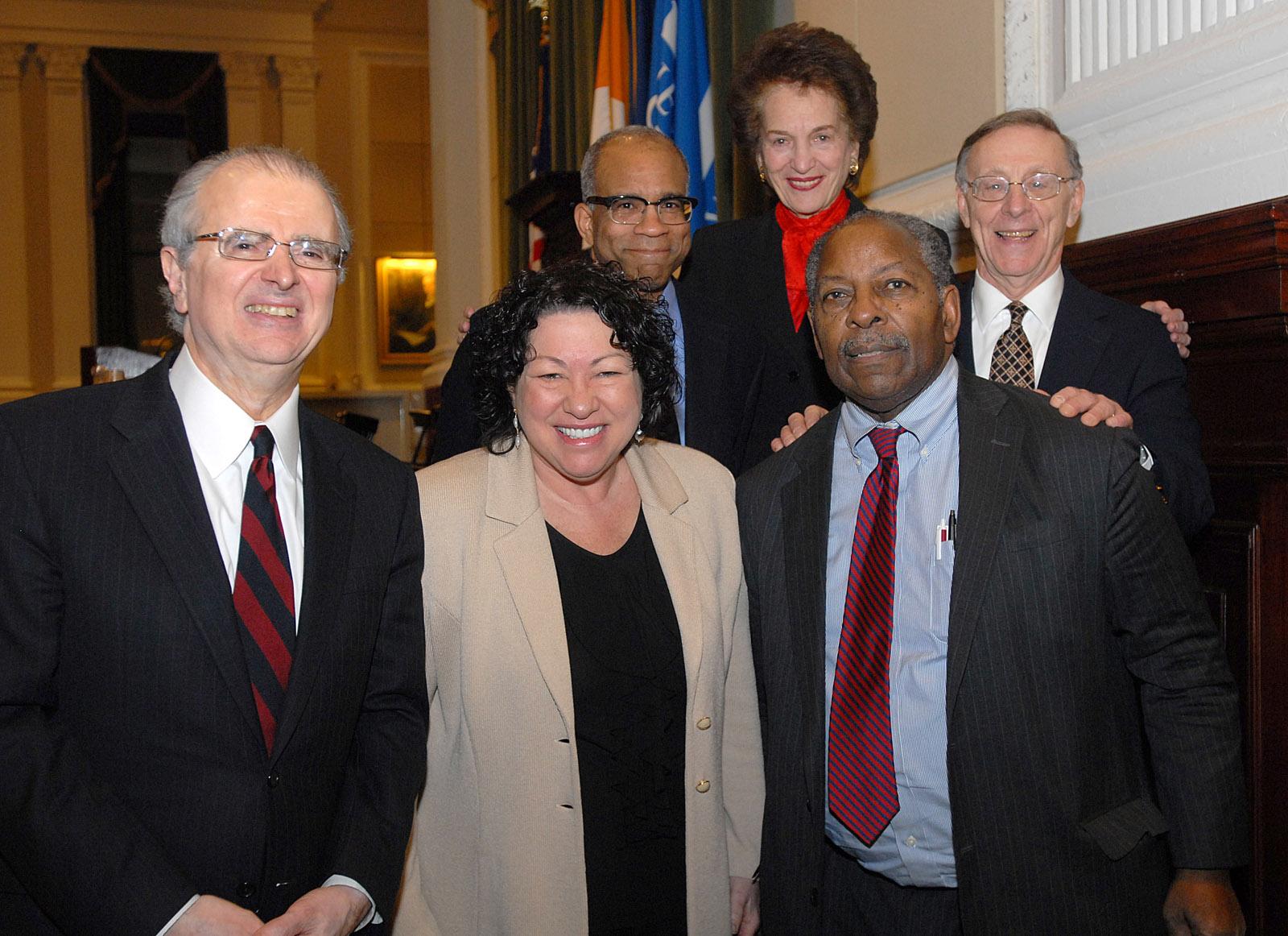 Front (L-R): Hon. Jonathan Lippman, Hon. Sonia M. Sotomayor, Hon. George Bundy Smith; Back (L-R): Randall L. Kennedy, Hon. Judith S. Kaye, Hon. Albert M. Rosenblatt