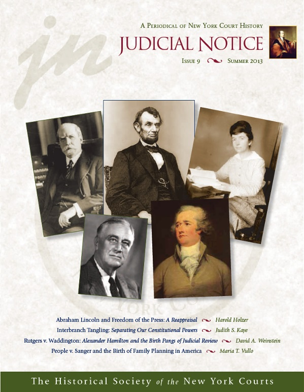 Cover of Judicial Notice Issue 9