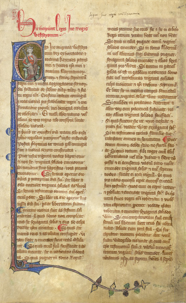 Laws of King Ine, Courtesy British Library