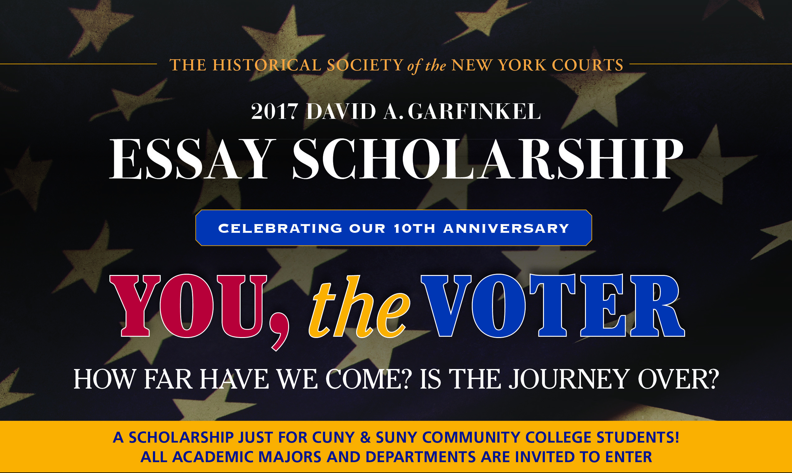 2017 Garfinkel Essay Scholarship