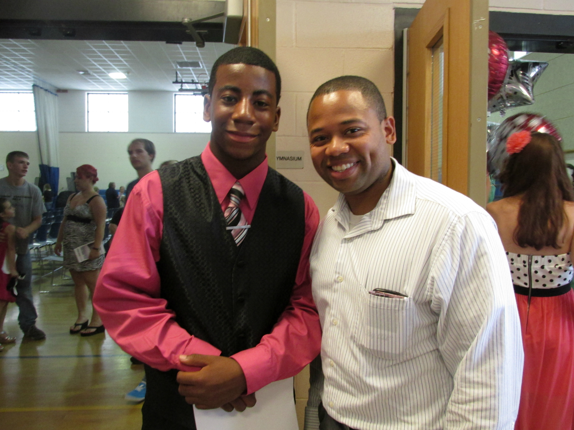 Elijah and a YOUTH POWER! constituent at a community outing