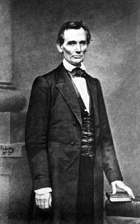 Photo of Abraham Lincoln at Cooper Union, February 27, 1860. From NYS Archives Series A3045-78.
