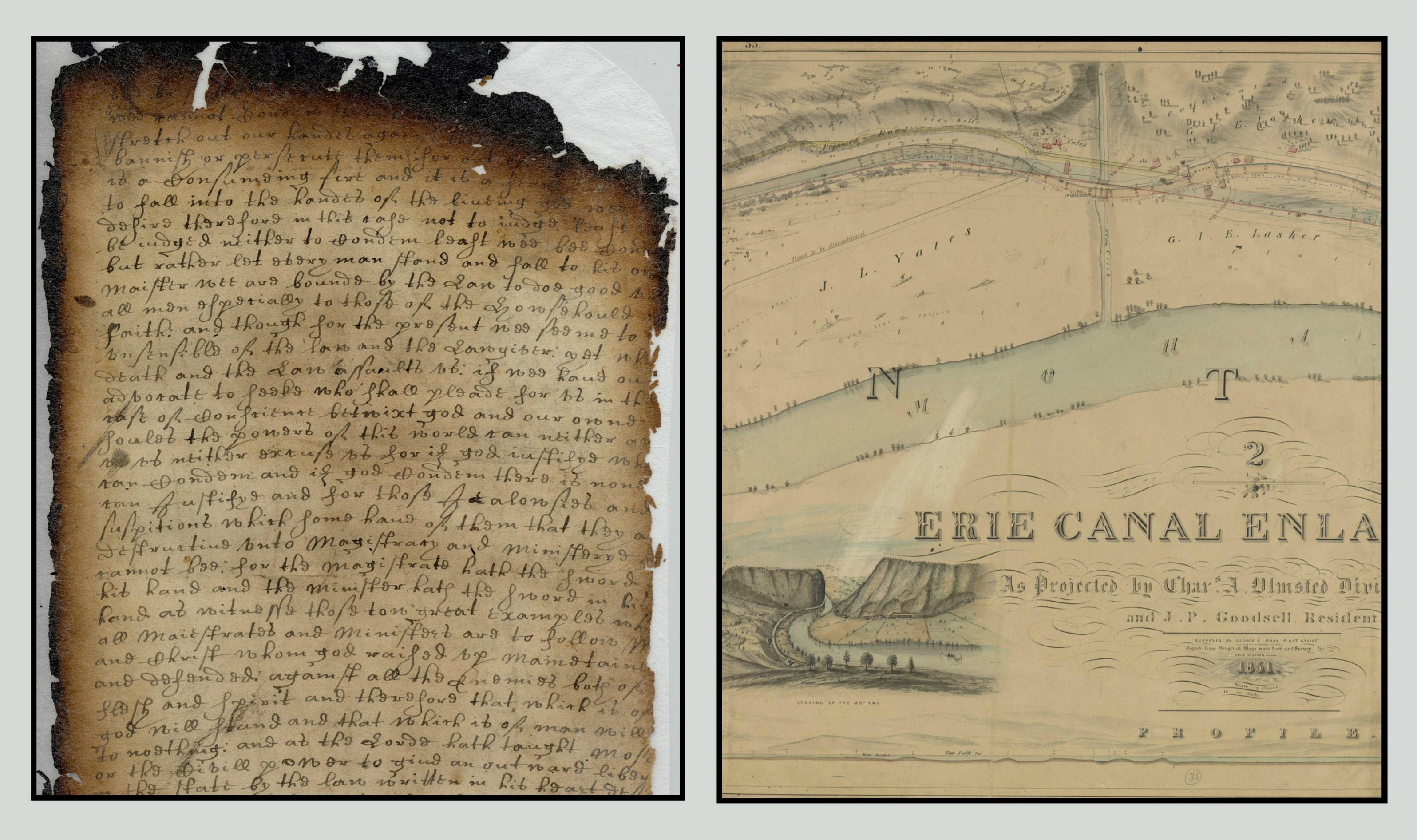 Detail of the Flushing Remonstrance; Erie Canal Document. Courtesy of the New York State Archives