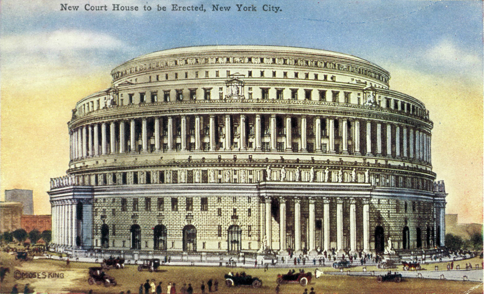 Circular design of New York Courthouse that was never built