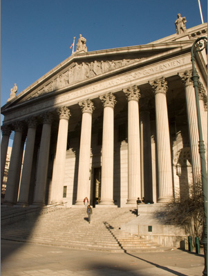 Exterior of the New York County Courthouse at 60 Centre Street