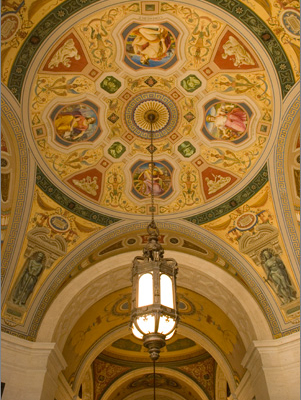 Vestibule Ceiling Featuring Classical Figures