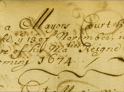 Document from the Mayor's Court, 1674