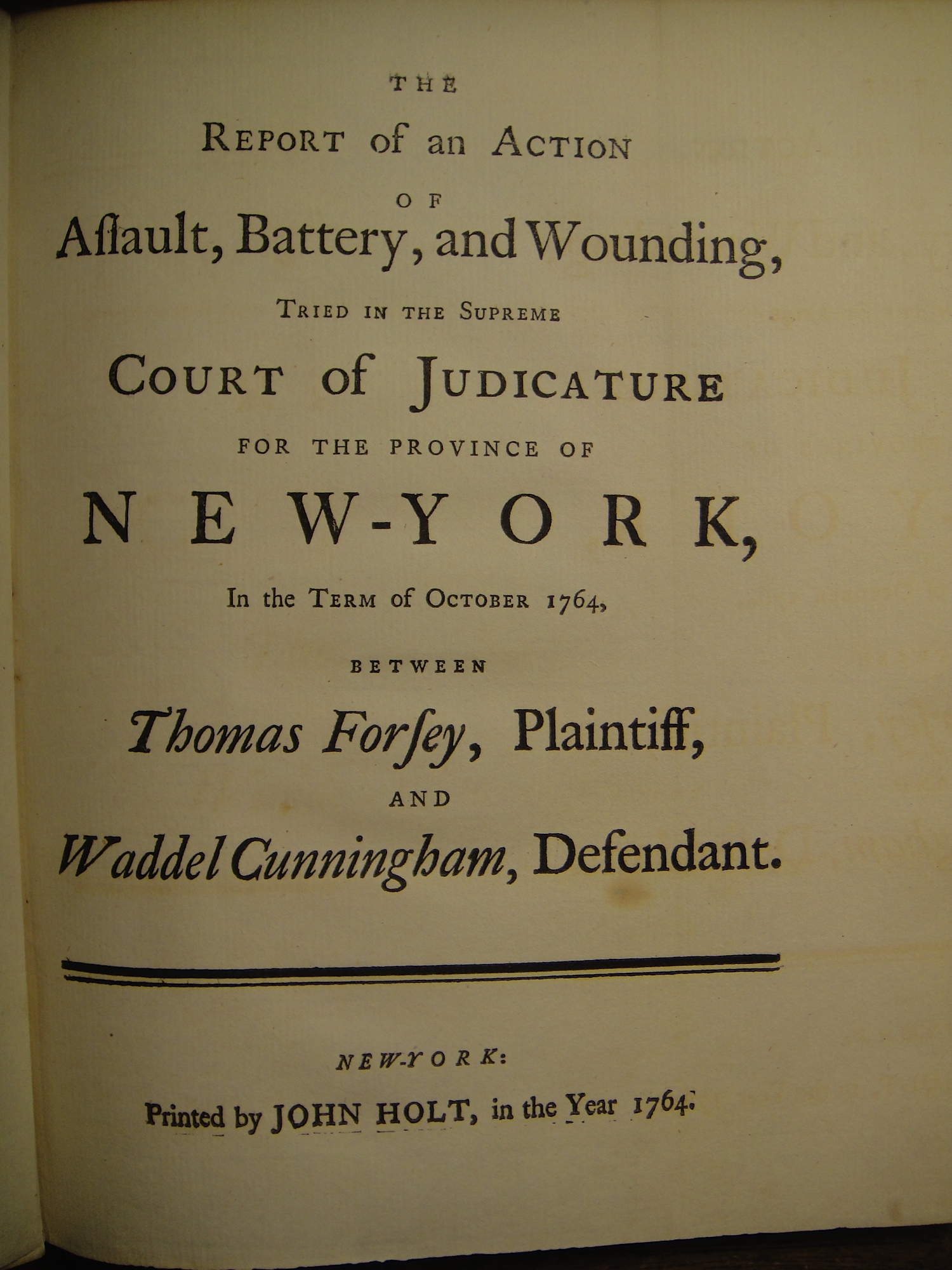 Cover page of Forsey v. Cunningham