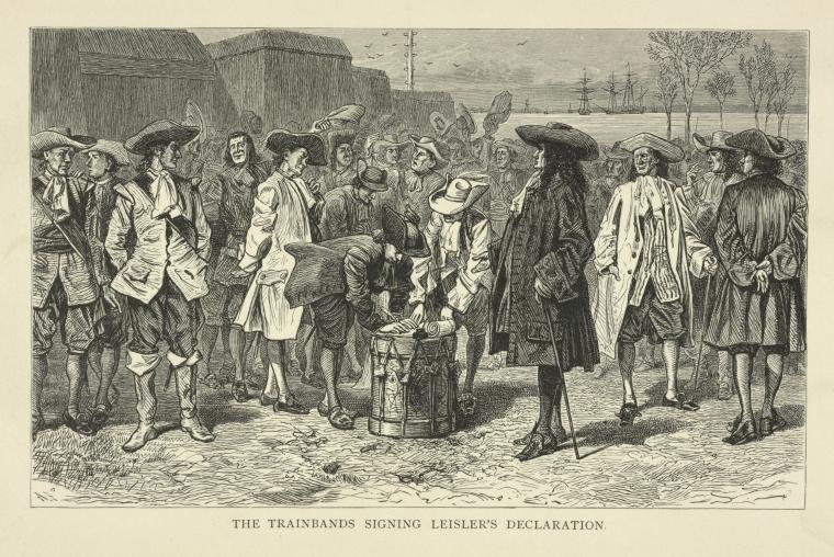 The Trainbands signing Leisler's declaration