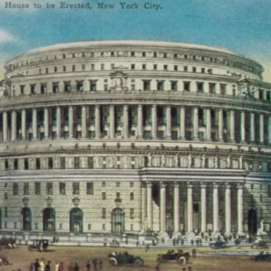 Architect Guy Lowell designed this in 1913. These edifices were never bulit.