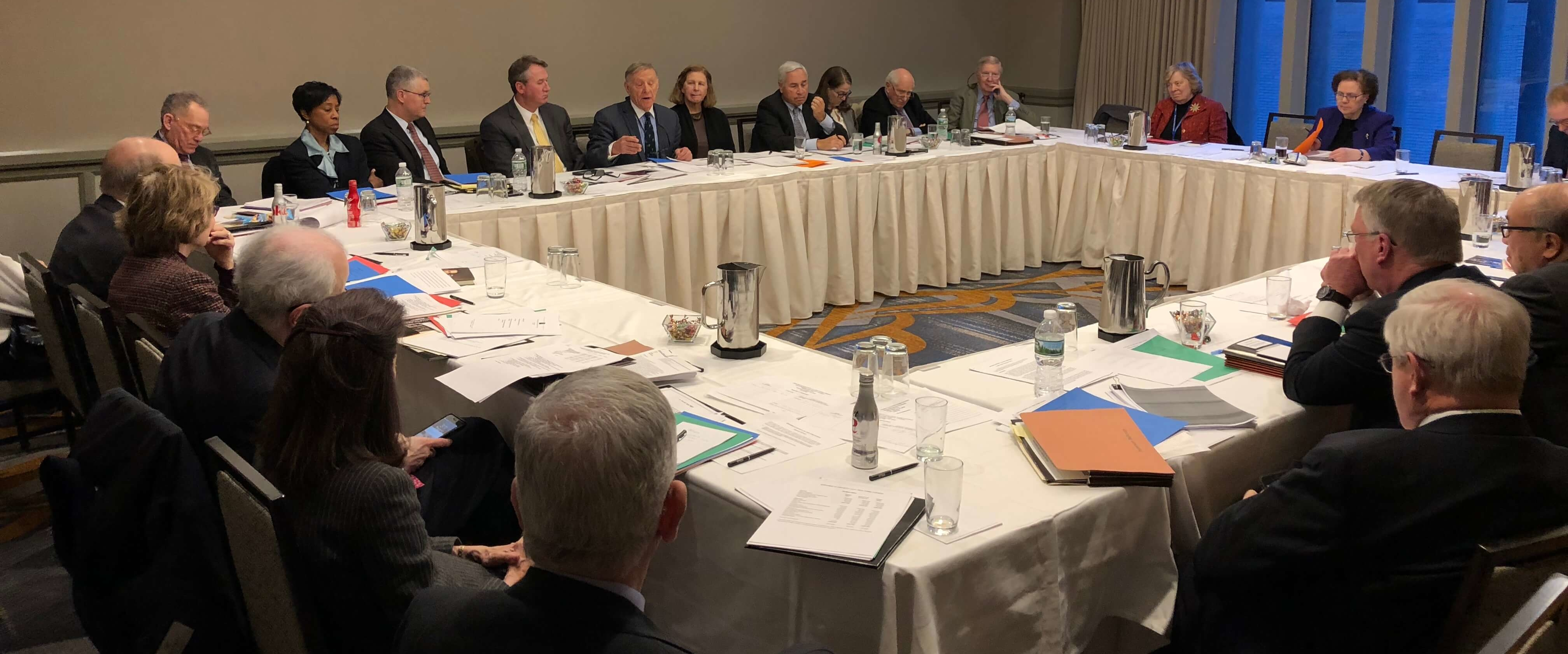 The Board of Trustees at the Society's Annual Meeting in 2018