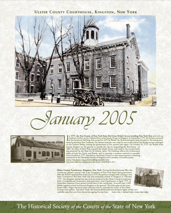 2005 Calendar: January