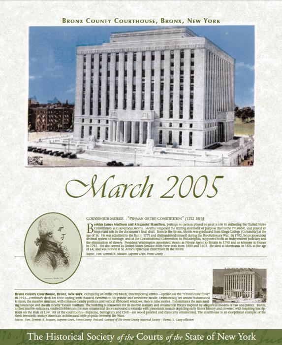 2005 Calendar: March