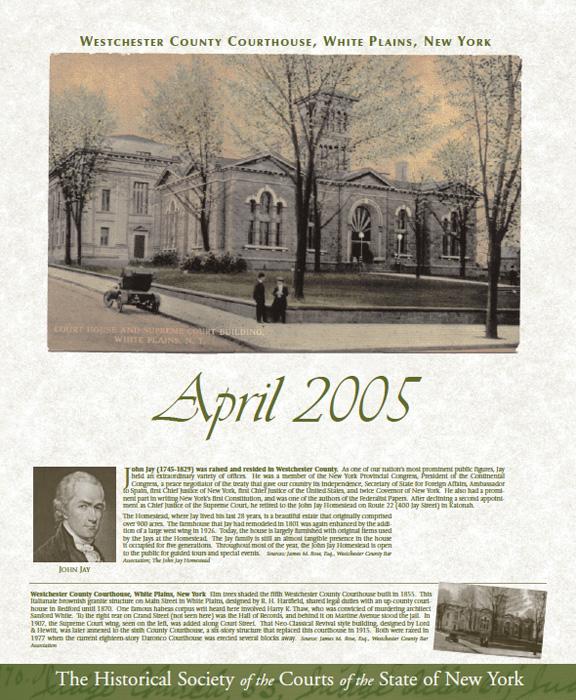 2005 Calendar: April