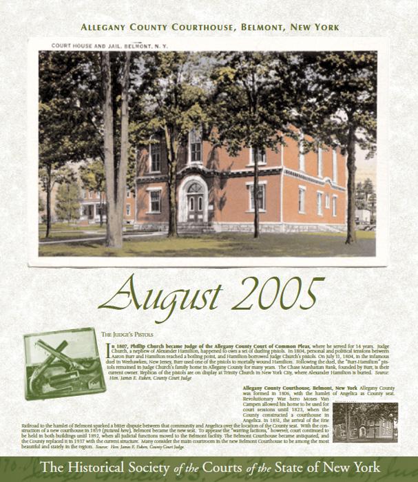 2005 Calendar: August