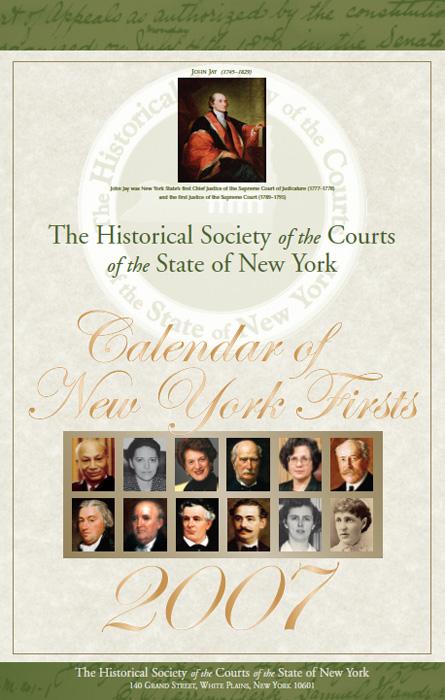 2007 Calendar: Cover