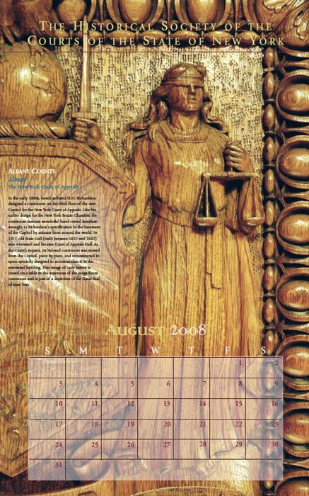 2008 Calendar: August