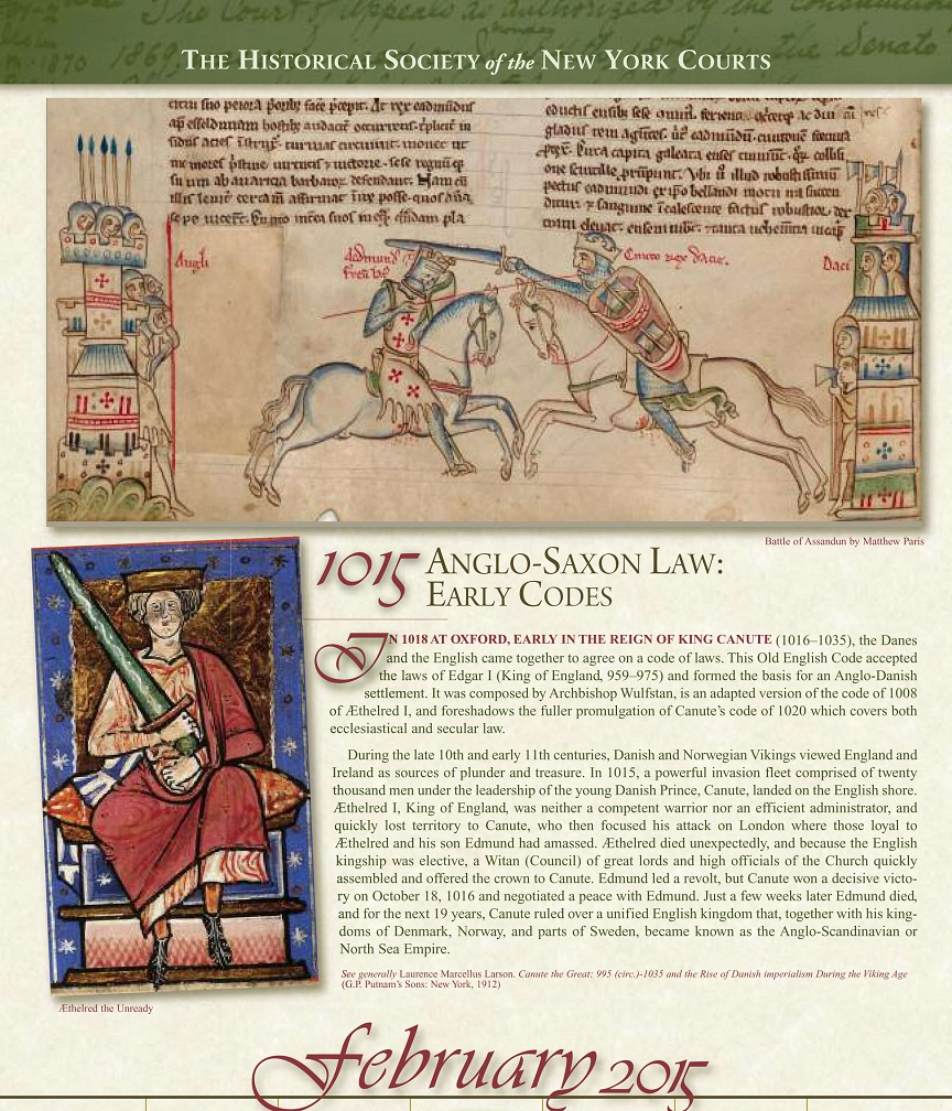"February 2015 - ""Legal History Through the Ages"""