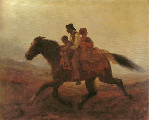 A Ride for Liberty – The Fugitive Slaves (1862), painting by Eastman Johnson