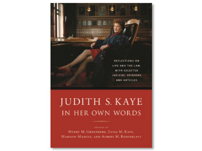 Judith S. Kaye Book Cover