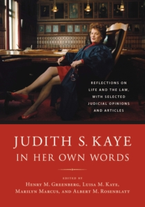 Cover of Judith S. Kaye In Her Own Words