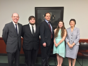 2017 Garfinkel Essay Scholarship Winners with Court of Appeals Judges