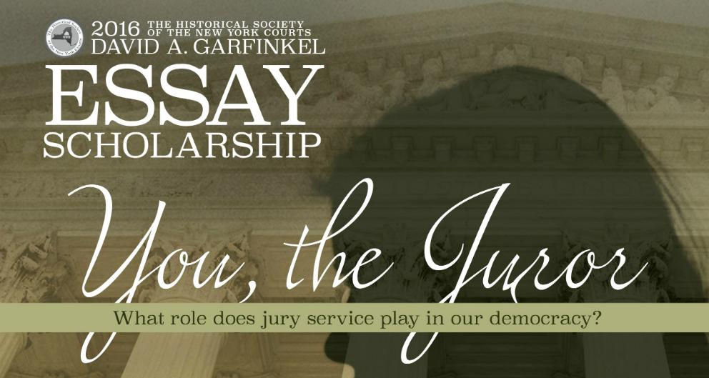 2016 Garfinkel Essay Scholarship