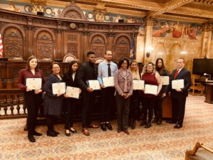 Scholarship winners who were present at the Winter 2020 Award Ceremony