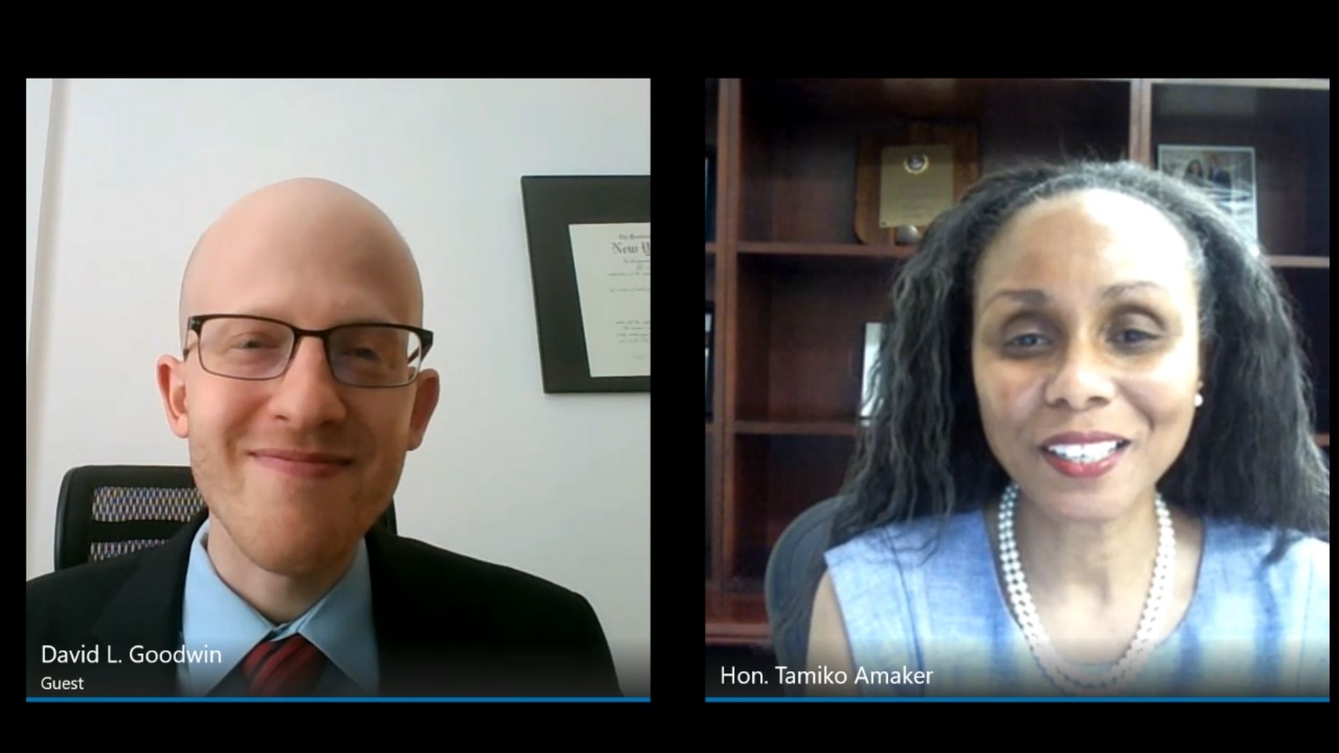 Hon. Tamiko A. Amaker, Administrative Judge of the NYC Criminal Court, interviewed by David L. Goodwin