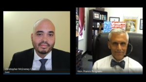 Hon. Francis Ricigliano, Nassau County Court Judge, interviewed by Christopher McEneney Chan