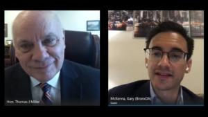 Interview with Hon. Thomas J. Miller & Gary McKenna