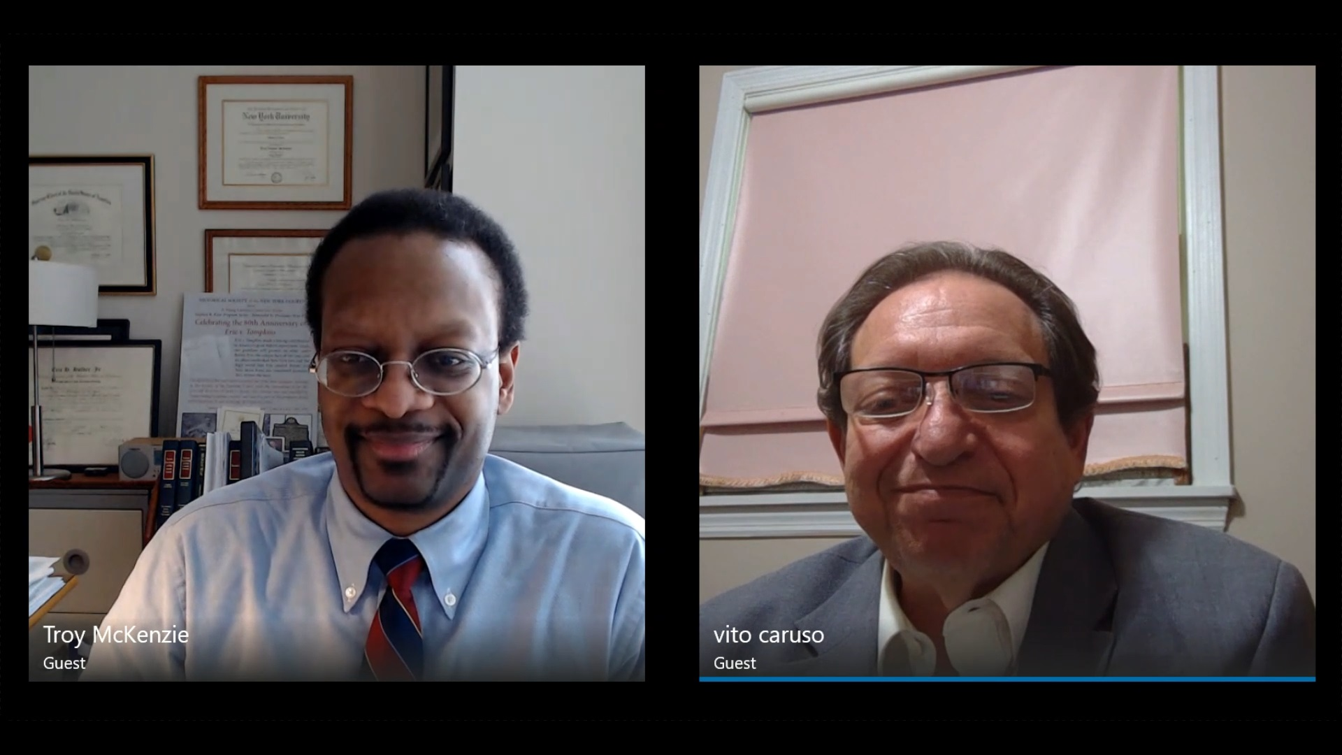 Interview with Hon. Vito C. Caruso & Prof. Troy A. McKenzie