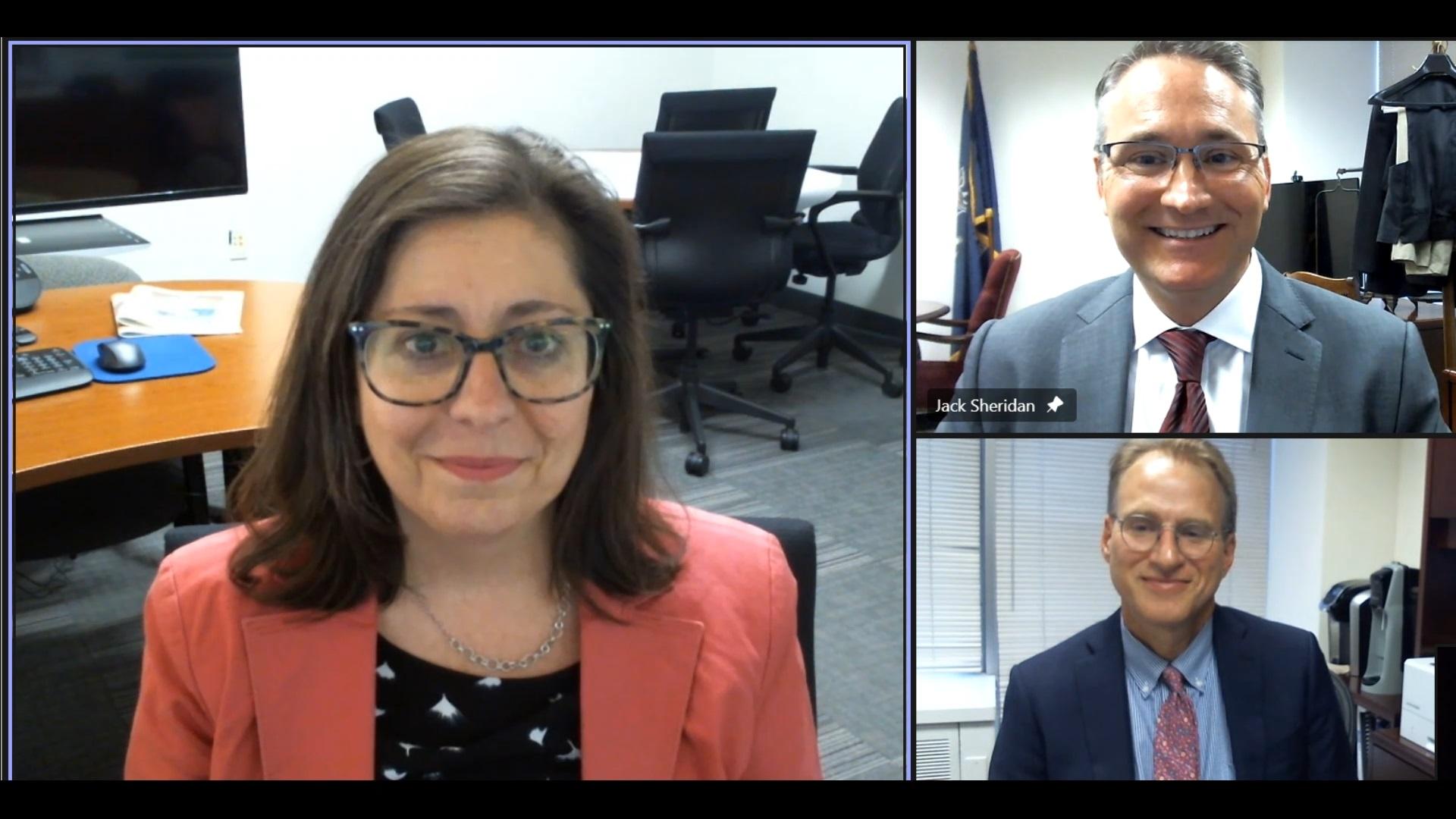 Christine Sisario, Justin Barry, and Jack Sheridan